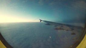 Timelapse de una ventana de los aeroplanos almacen de metraje de vídeo