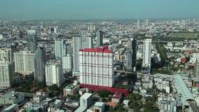 Timelapse de vue aérienne de ville de Bangkok banque de vidéos
