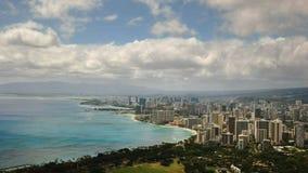 Timelapse de Waikiki de la cabeza del diamante almacen de metraje de vídeo
