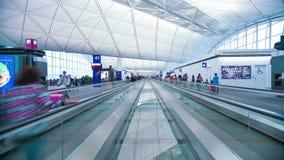 Timelapse dei passeggeri dell'aeroporto di Annoymous archivi video