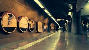 Timelapse dei pendolari, passeggeri del treno video d archivio