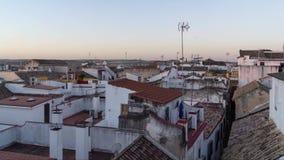 Timelapse dei tetti ad alba video d archivio