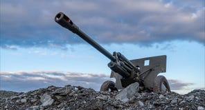 timelapse del cañón de la guerra mundial de 76m m Unión Soviética 2 almacen de metraje de vídeo