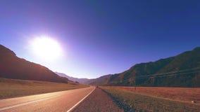 Timelapse del camino de la monta?a en el tiempo de la salida del sol de la puesta del sol del verano o del oto?o Naturaleza salva almacen de metraje de vídeo