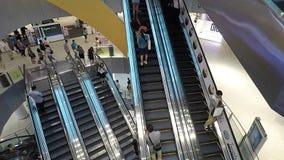 Timelapse del centro commerciale di VivoCity a Singapore stock footage