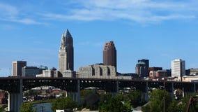 Timelapse del centro urbano di Cleveland 4K archivi video