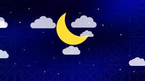 Timelapse del cielo del Ramadán ilustración del vector
