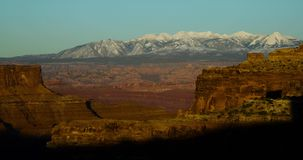 Timelapse del deserto e dei canyon nell'Utah archivi video