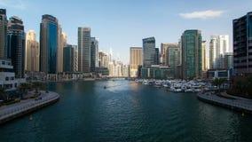 Timelapse del Dubai Marina Day stock footage