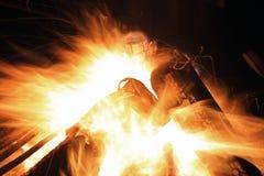 Timelapse del fuoco Immagine Stock
