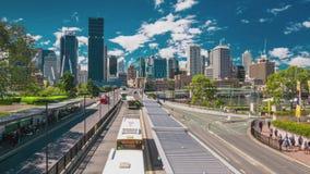 Timelapse del horizonte de Brisbane según lo visto del banco del sur almacen de metraje de vídeo