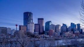 Timelapse del horizonte de Calgary almacen de metraje de vídeo