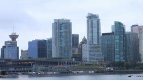 Timelapse del horizonte de Vancouver, Columbia Británica 4K almacen de metraje de vídeo