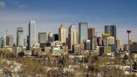 Timelapse del horizonte del ` s de Calgary almacen de video