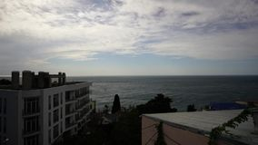 Timelapse del mar agita en el golfo de Yalta almacen de video