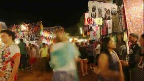 Timelapse del mercado de la noche de Goa metrajes