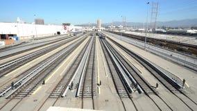 Timelapse del movimiento de la estación de metro en Los Ángeles almacen de video
