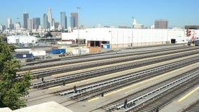 Timelapse del movimiento de la estación de metro en Los Ángeles almacen de metraje de vídeo