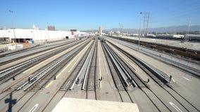 Timelapse del movimiento de la estación de metro en Los Ángeles metrajes
