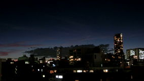 Timelapse del nightscape di Tokyo stock footage
