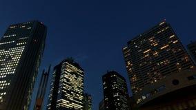 Timelapse del nightscape di Tokyo stock footage