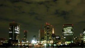 Timelapse del nightscape di Tokyo video d archivio