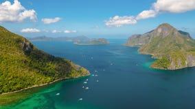 Timelapse del paisaje marino con el EL tropical Nido, Palawan, Filipinas de las islas almacen de video