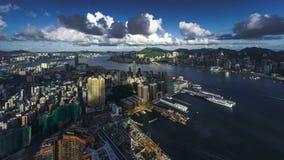 Timelapse del paisaje urbano de Hong Kong Imagen de archivo libre de regalías