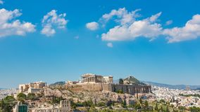 Timelapse del Parthenon, acrópolis de Atenas, Grecia almacen de video