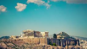Timelapse del Parthenon, acr?polis de Atenas, Grecia almacen de metraje de vídeo