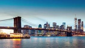 Timelapse del puente de Brooklyn almacen de metraje de vídeo