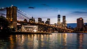 Timelapse del puente de Brooklyn - parte 2 almacen de metraje de vídeo