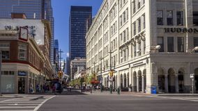 Timelapse del ` s Stephen Avenue di Calgary video d archivio