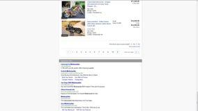 Timelapse del sitio web de eBay en pantalla de ordenador almacen de metraje de vídeo