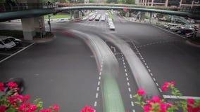 Timelapse del tráfico de la hora punta en el cruce, Shangai, China metrajes