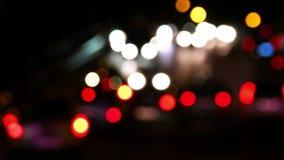Timelapse del tráfico de la noche Mudanza del carlight de la falta de definición almacen de video