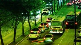 Timelapse del tráfico urbano almacen de metraje de vídeo