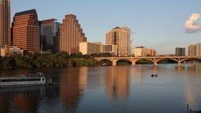 Timelapse del tramonto dell'orizzonte di Austin archivi video