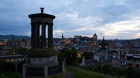 Timelapse del tramonto sopra Edimburgo, Scozia