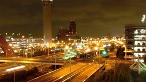 Timelapse del trasporto rapido di notte a Tokyo archivi video
