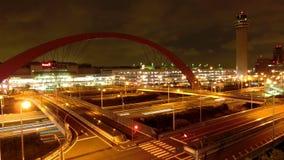 Timelapse del trasporto rapido di notte a Tokyo stock footage
