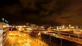 Timelapse del trasporto rapido di notte a Tokyo video d archivio