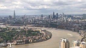 Timelapse dell'orizzonte di Londra archivi video