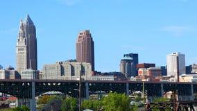 Timelapse dell'orizzonte 4K di Cleveland archivi video