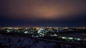 Timelapse della città di notte stock footage