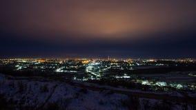 Timelapse della città di notte archivi video