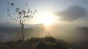 Timelapse der magischen Sonne steigend bei Ella Peak, Sri Lanka stock video