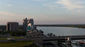 Timelapse der Stadt Barnaul stock footage