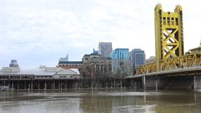 Timelapse der Turm-Brücke, Sacramento 4K stock video