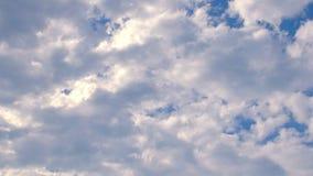 Timelapse des bewölkten Himmels Stockfoto